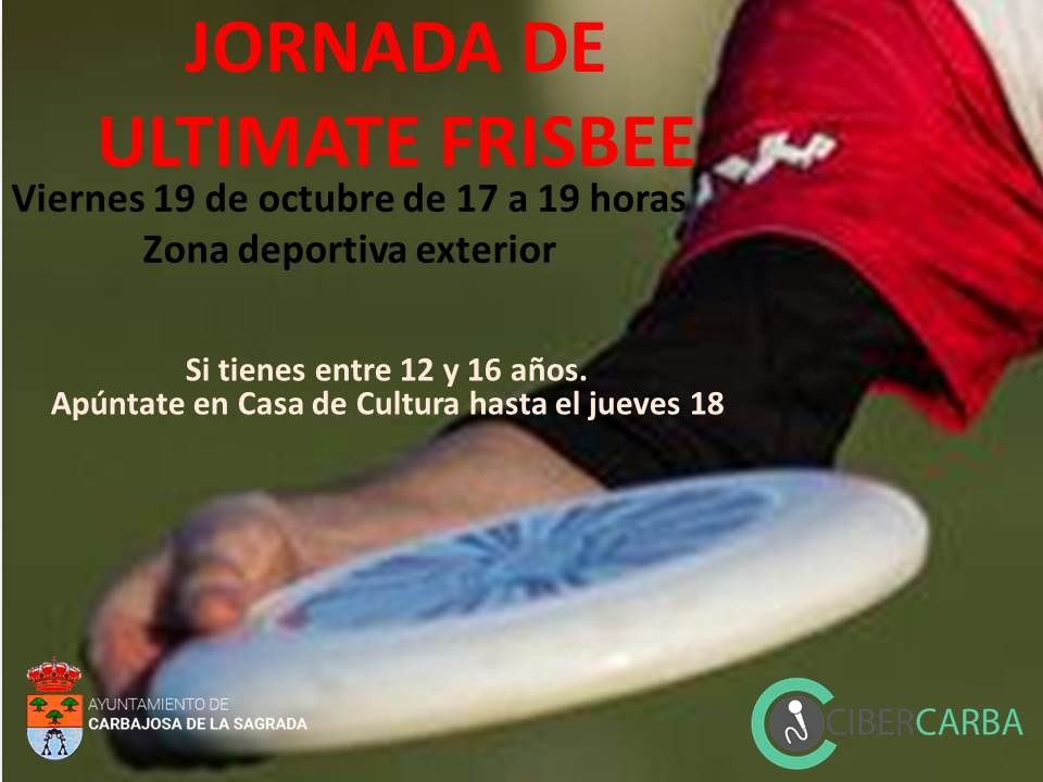 Jornada de Frisbee Ultimate 19 de octubre ¡ APUNTATE!