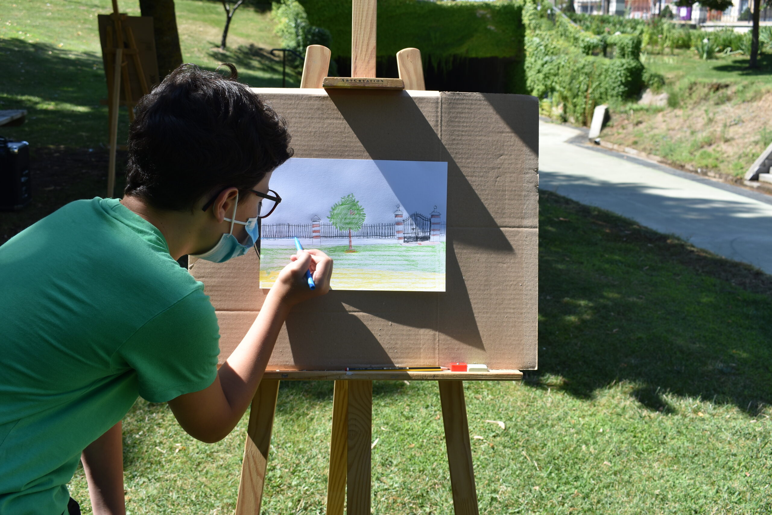 pintura al aire libre  fotos de la actividad
