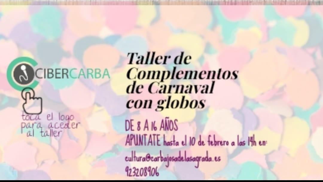 taller de complementos de carnaval con globos