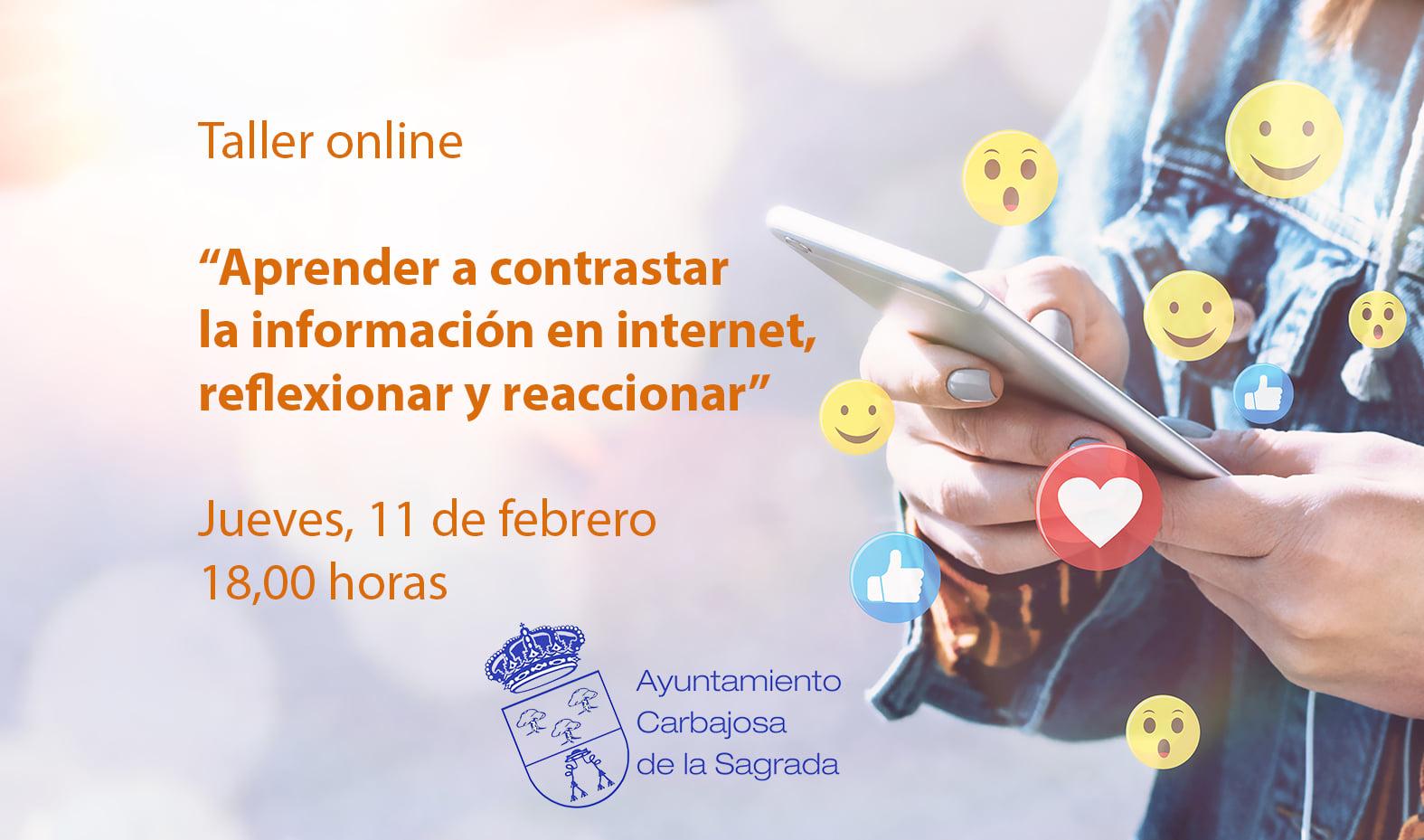 """Taller on line:   """"Aprender a contrastar la información en internet, reflexionar y reaccionar"""" 11 F día de la mujer y la niña en la ciencia"""